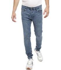 jeans brave soul azul - calce skinny