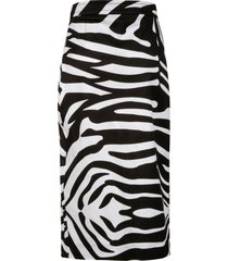 dsquared2 zebra pattern print slim skirt