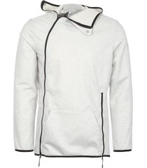 asics grey heather laminated terry hoodie 146402-0704