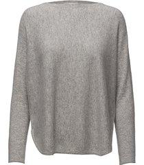 curved sweater stickad tröja grå davida cashmere