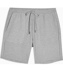 mens grey twill jersey shorts