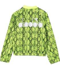 diadora teen bomber jacket with junior diadora print