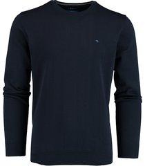 bos bright blue rince r-neck pullover flat kn 21105ri01bo/290 navy