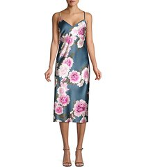 silk floral slip dress