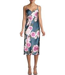 silk floral slip dress