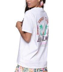 colourful rebel t-shirt las palmas loosefit offwhite