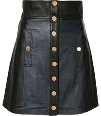 alice mccall high waist leather mini skirt - black
