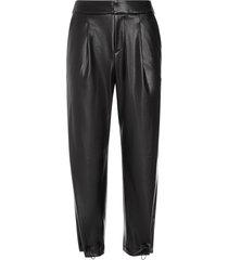 alice+olivia paris faux-leather trousers - black