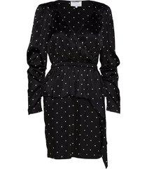 peplum mini dress kort klänning svart designers, remix