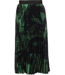 off-white green and black slik skirt
