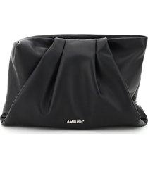 ambush maxi wrap leather clutch