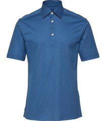 blue polo short sleeve popover shirt polos short-sleeved blå eton