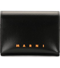 marni bi-colour press-stud wallet - black