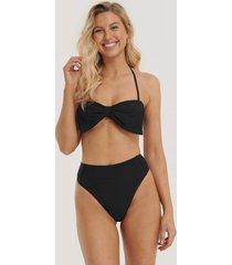 na-kd swimwear bikinitrosa med hög midja - black