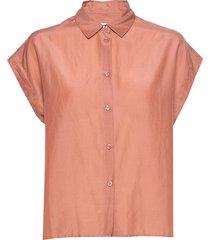 auso shirt overhemd met korte mouwen oranje second female