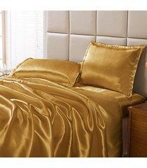jogo de cama dourados enxovais charmouse ouro, - dourado - dafiti