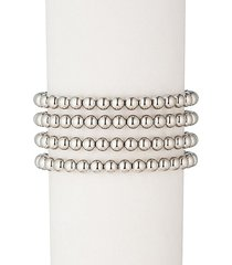 sophia 18k white goldplated bead bracelet