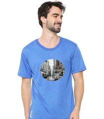 camiseta sandro clothing metropolitan azul - azul - masculino - dafiti