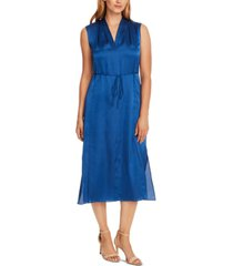 vince camuto charmeuse v-neck maxi dress