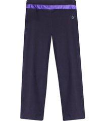 legging deportivo con pretina en contraste color morado, talla s