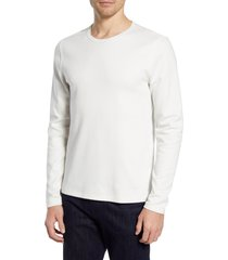 men's 7 for all mankind cotton blend long sleeve crewneck t-shirt, size large - white
