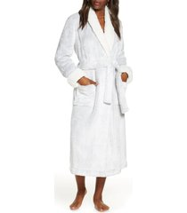 women's nordstrom frosted plush robe, size xx-large - grey