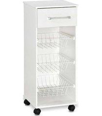 armário p/ agua 1 gaveta 3 fruteiras branco fosco santos dumont