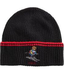 polo ralph lauren skiing bear cuffed hat