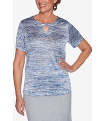 alfred dunner women's missy french bistro space dye top