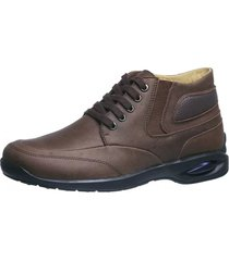 coturno masculino doctor shoes 1854 marrom - kanui