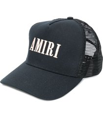 amiri logo mesh-panel cap - black