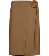 rodebjer habiba wool knälång kjol beige rodebjer