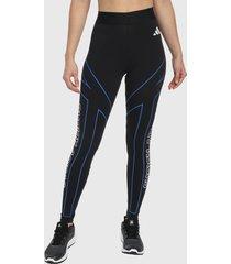 leggings negro-azul-blanco adidas performance gráficas