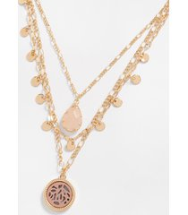 maurices womens 3 row layered necklace