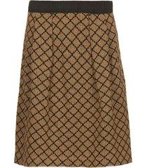 rok met lurex linda  bruin