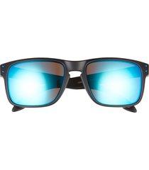 oakley holbrook 57mm sunglasses in black/blue/red at nordstrom