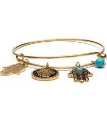 pulseira key design charms gold feminina