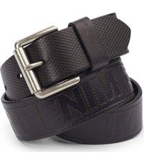tommy hilfiger men's leather wide-strap belt