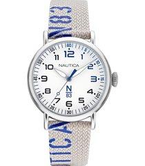 reloj casual blanco nautica