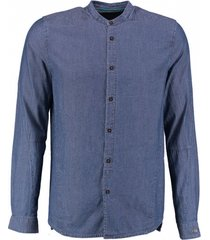 cast iron soepel blauw overhemd