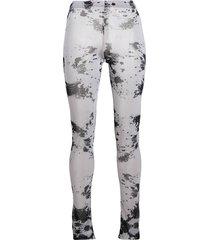 barbara bologna sheer style paint splatter print leggings - white