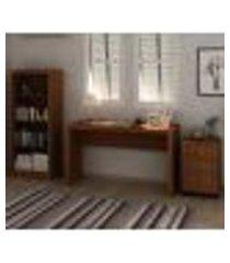 conjunto escritório completo 03 peças cj13 amendoa tecno mobili