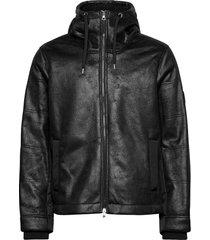 jacket läderjacka skinnjacka svart ea7
