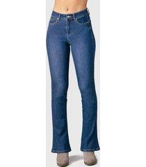 jeans tentation flare azul - calce ajustado
