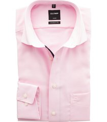 olymp strijkvrij overhemd roze structuur