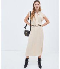 motivi vestito stile western donna beige