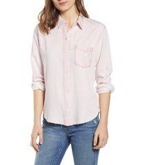 women's rails ingrid raw hem chambray shirt
