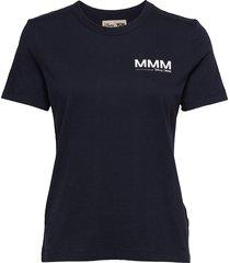 aria t-shirt t-shirts & tops short-sleeved blauw wood wood