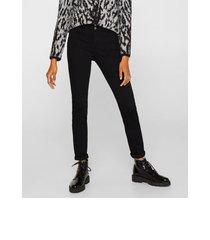 jeans moldeadores con dos botones grafito esprit