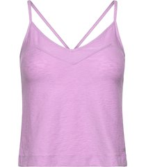 glam texture strap tank t-shirts & tops sleeveless lila casall